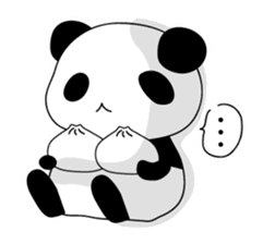 Panda and rabbit(English version) sticker #471677