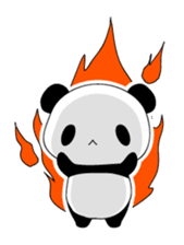 Panda and rabbit(English version) sticker #471681