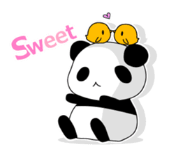 Panda and rabbit(English version) sticker #471683