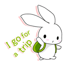 Panda and rabbit(English version) sticker #471686