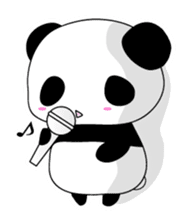 Panda and rabbit(English version) sticker #471688