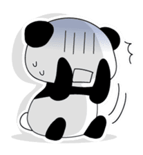 Panda and rabbit(English version) sticker #471689