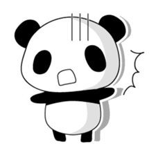 Panda and rabbit(English version) sticker #471693