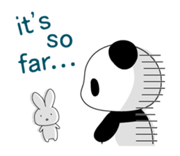 Panda and rabbit(English version) sticker #471694