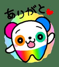 COLORFUL  PANDA sticker #472095