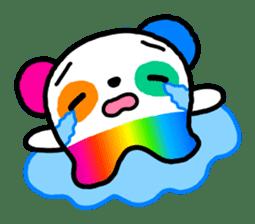 COLORFUL  PANDA sticker #472097
