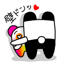 COLORFUL  PANDA sticker #472099