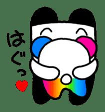 COLORFUL  PANDA sticker #472101