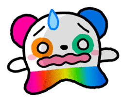 COLORFUL  PANDA sticker #472111