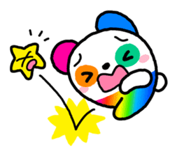 COLORFUL  PANDA sticker #472114