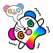 COLORFUL  PANDA sticker #472117