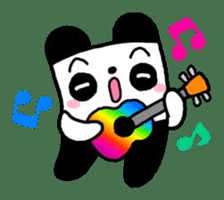 COLORFUL  PANDA sticker #472119