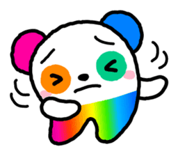 COLORFUL  PANDA sticker #472126