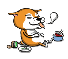 Shiba Dog PanPan's normal life sticker #474059