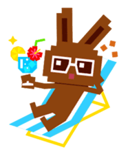 Chocolate Bunny Pulpy Summer sticker #474535