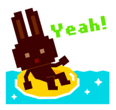 Chocolate Bunny Pulpy Summer sticker #474540