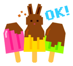 Chocolate Bunny Pulpy Summer sticker #474543