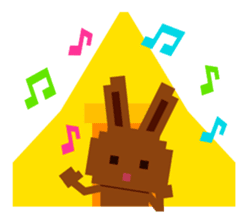 Chocolate Bunny Pulpy Summer sticker #474559