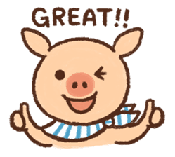 ANTON the piglet sticker #474857