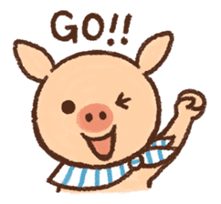 ANTON the piglet sticker #474859