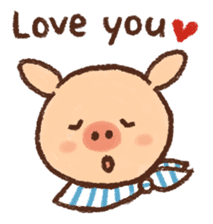 ANTON the piglet sticker #474865