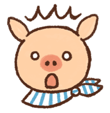 ANTON the piglet sticker #474885