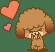 Kawaii Dog - Toy Poodle sticker #475313
