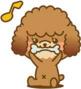Kawaii Dog - Toy Poodle sticker #475321