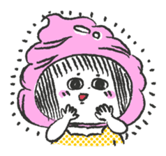 ice cream girl sticker #476016
