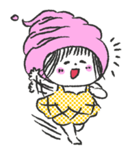 ice cream girl sticker #476020