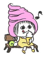 ice cream girl sticker #476022