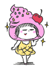 ice cream girl sticker #476041