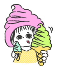 ice cream girl sticker #476048