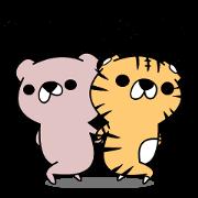 สติ๊กเกอร์ไลน์ Kumabe~e and Toranosuke