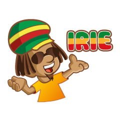 IRIE IDRIN (Jamaican patwa stickers)