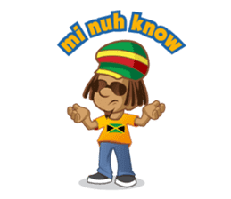 IRIE IDRIN (Jamaican patwa stickers) sticker #478215