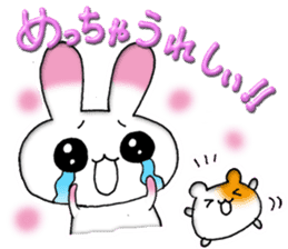 A lovely rabbit sticker #478590