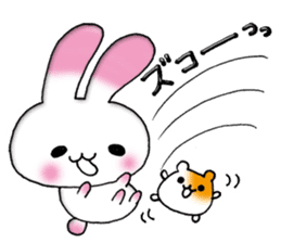 A lovely rabbit sticker #478595