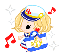 Marine Girl sticker #483385