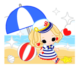 Marine Girl sticker #483387
