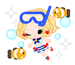 Marine Girl sticker #483404