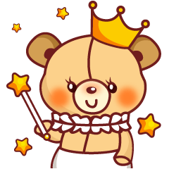 Bear Prince cute sticker
