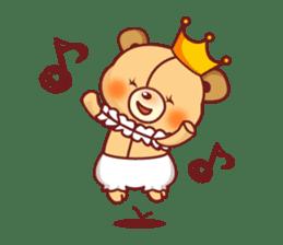 Bear Prince cute sticker sticker #484155