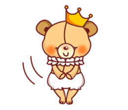 Bear Prince cute sticker sticker #484156