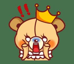 Bear Prince cute sticker sticker #484162