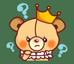 Bear Prince cute sticker sticker #484163