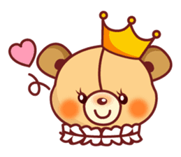 Bear Prince cute sticker sticker #484166