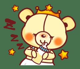 Bear Prince cute sticker sticker #484167