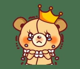 Bear Prince cute sticker sticker #484169