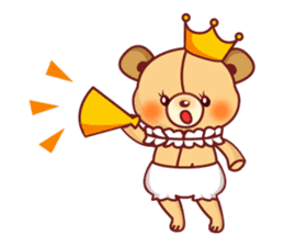 Bear Prince cute sticker sticker #484171